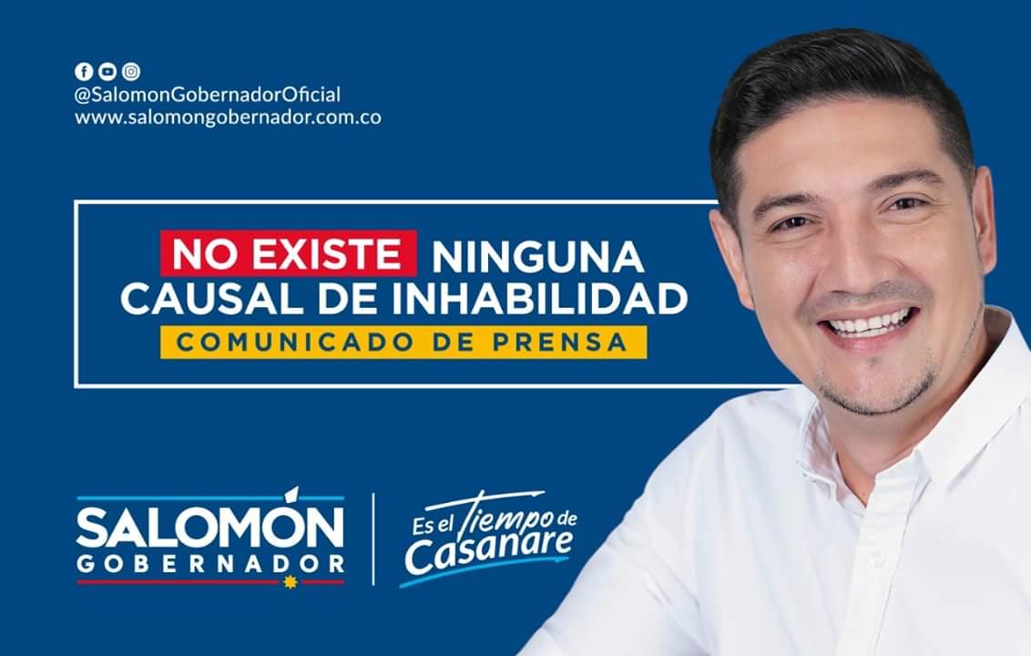 """Photo of «Demanda de inhabilidad es una estrategia de campaña de mi principal contendor"""": Salomón Sanabria"""