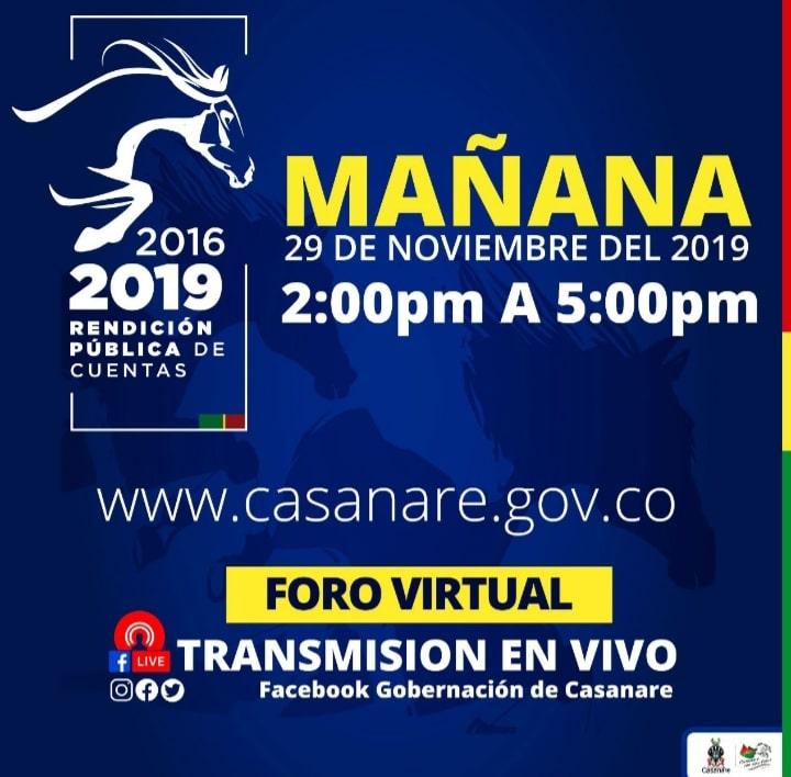 Photo of Este viernes, Foro Virtual de Rendición de Cuentas de la Gobernación de Casanare
