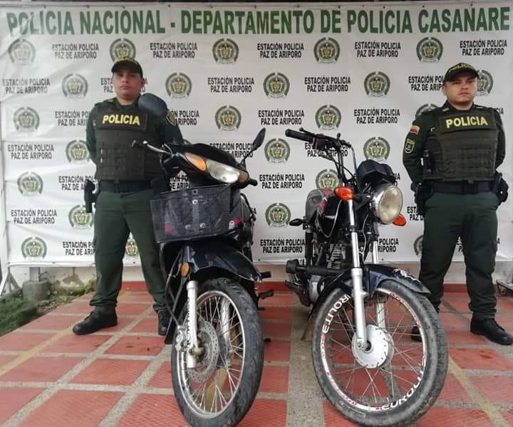 Photo of FUERON RECUPERADAS DOS MOTOCICLETAS EN PAZ DE ARIPORO