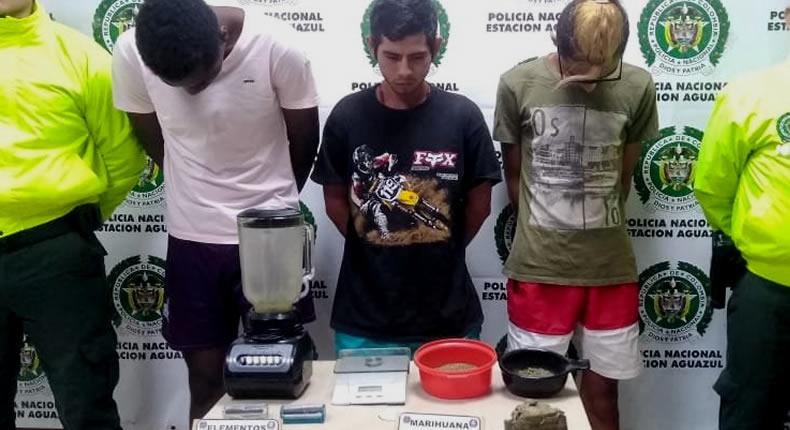 Photo of Tres personas capturadas por trafico de estupefacientes en Aguazul