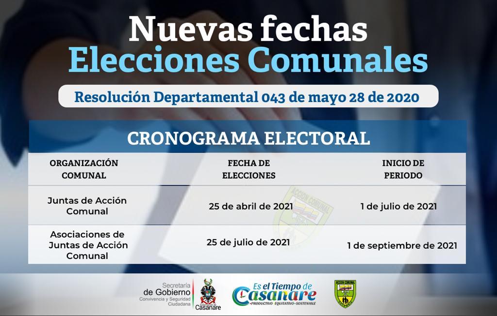 Photo of Aplazadas elecciones comunales en Casanare para el 2021