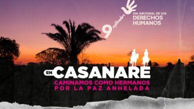 Photo of Del 06 al 13 de septiembre Semana por la paz en Casanare
