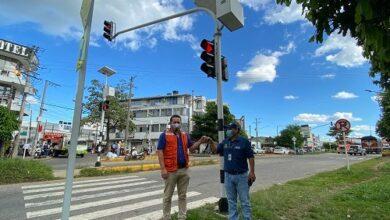 Photo of Entró en operación intersección semafórica de la calle 9 con Marginal de la Selva