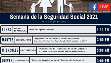 Photo of Secretaría Departamental de Salud se une a la Semana de la Seguridad Social 2021
