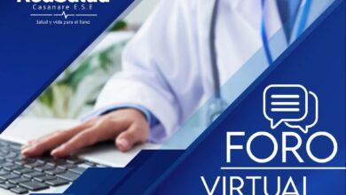 Photo of Foro virtual de la vigencia 2020 realizará Red Salud Casanare